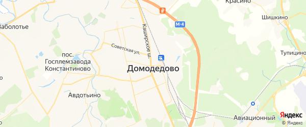Карта Домодедово с районами, улицами и номерами домов