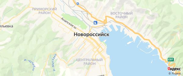 Карта Новороссийска с районами, улицами и номерами домов
