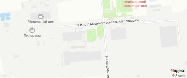 Машиностроительная площадка на карте территории Юго-западный промрайон с номерами домов