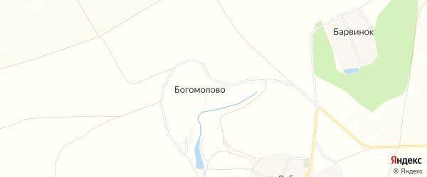 Карта хутора Богомолово в Белгородской области с улицами и номерами домов