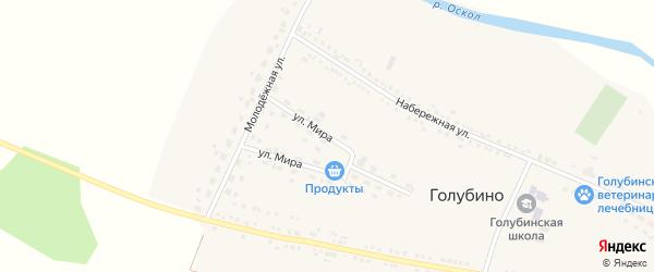 Улица Мира на карте села Голубино с номерами домов