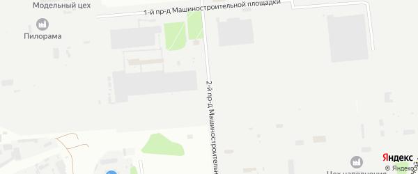 Площадка Производственная проезд-2 на карте территории Юго-западный промрайон с номерами домов