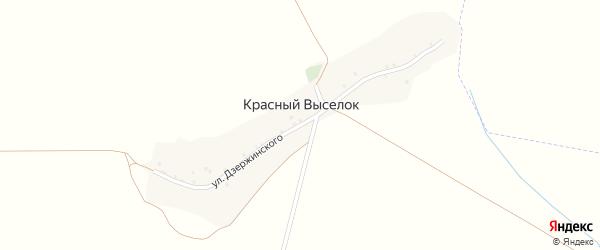 Улица Дзержинского на карте поселка Красного Выселка с номерами домов