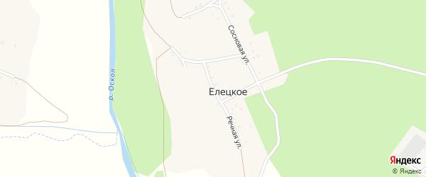 Речная улица на карте Елецкого села с номерами домов