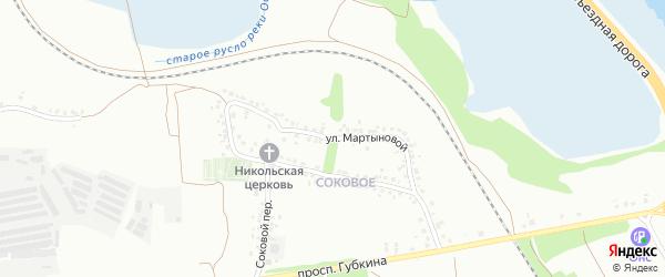 Улица Мартыновой на карте Старого Оскола с номерами домов