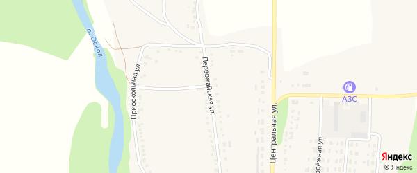 Первомайская улица на карте Ездочного села с номерами домов