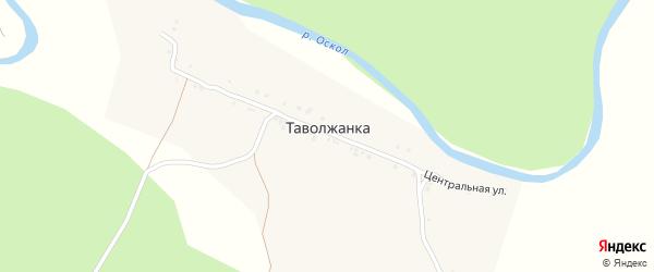 Центральная улица на карте села Таволжанки с номерами домов