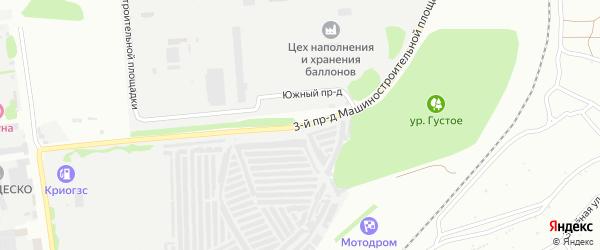 Площадка Производственная проезд-3 на карте территории Юго-западный промрайон с номерами домов