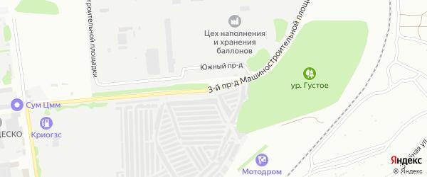 Площадка Гаражная проезд-3 на карте территории Юго-западный промрайон с номерами домов