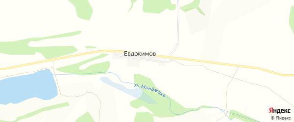 Карта хутора Евдокимова в Белгородской области с улицами и номерами домов