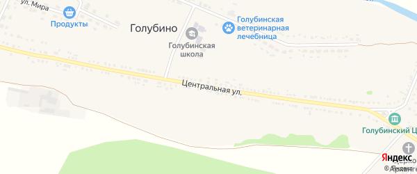Центральная улица на карте села Голубино с номерами домов