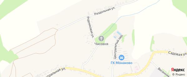 Родниковая улица на карте села Монаково с номерами домов