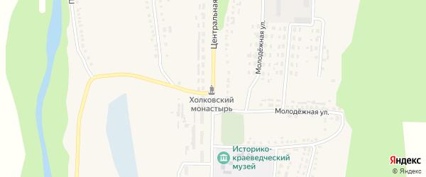 Центральная улица на карте Ездочного села с номерами домов