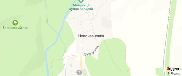 Карта села Новоивановки в Белгородской области с улицами и номерами домов
