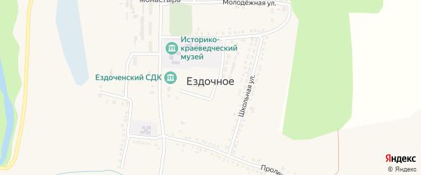 Центральный переулок на карте Ездочного села с номерами домов