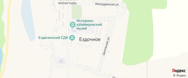 Школьная улица на карте Ездочного села с номерами домов