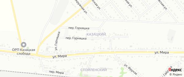 Переулок Горняшка на карте Старого Оскола с номерами домов