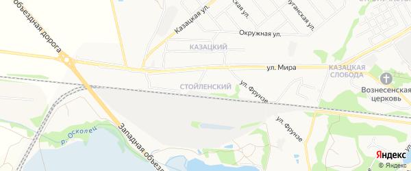 Стойленский ГСК на карте Старого Оскола с номерами домов