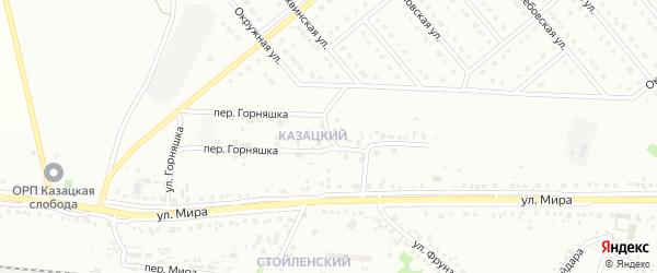 Улица Горняшка на карте Старого Оскола с номерами домов