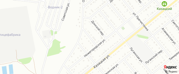 Нижегородский переулок на карте Старого Оскола с номерами домов