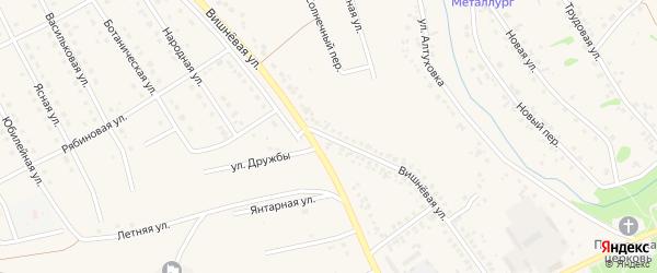 Вишневая улица на карте села Федосеевки с номерами домов