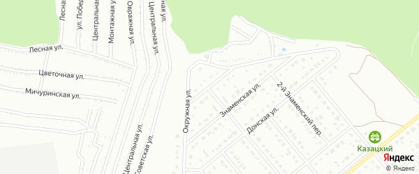 Окружной переулок на карте Старого Оскола с номерами домов