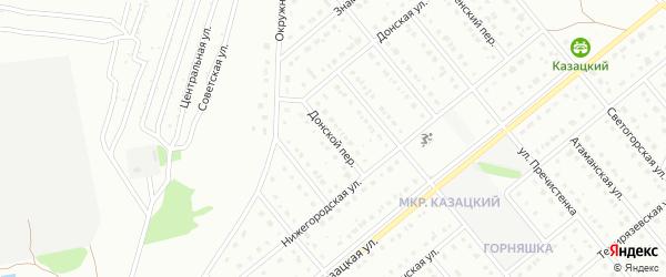 Донской переулок на карте Старого Оскола с номерами домов