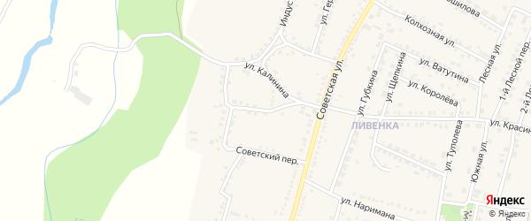 Переулок Калинина на карте поселка Чернянка с номерами домов