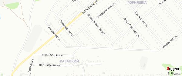 1-й Сорокинский переулок на карте Старого Оскола с номерами домов