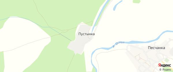 Карта хутора Пустынки в Белгородской области с улицами и номерами домов