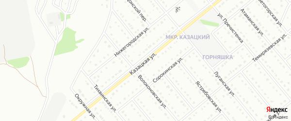 Казацкая улица на карте Старого Оскола с номерами домов
