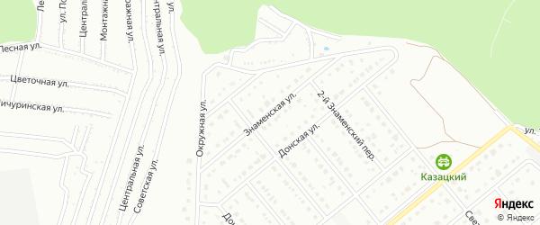 Знаменская улица на карте Старого Оскола с номерами домов