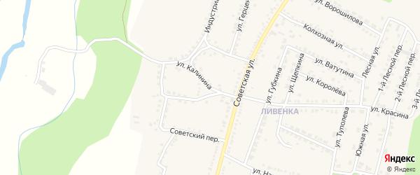 Улица Калинина на карте поселка Чернянка с номерами домов