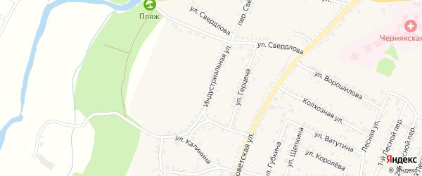 Индустриальная улица на карте поселка Чернянка с номерами домов