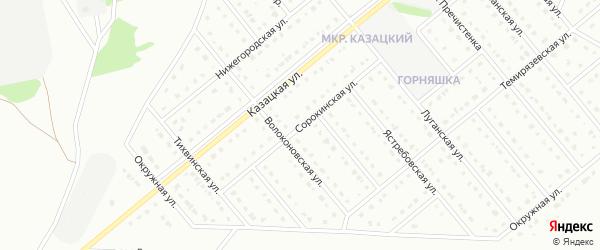 Сорокинская улица на карте Старого Оскола с номерами домов