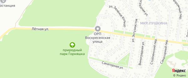 Воскресенская улица на карте Старого Оскола с номерами домов