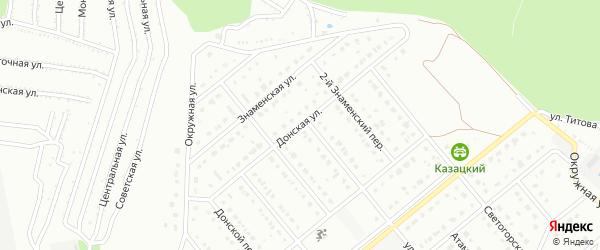 Донская улица на карте Старого Оскола с номерами домов