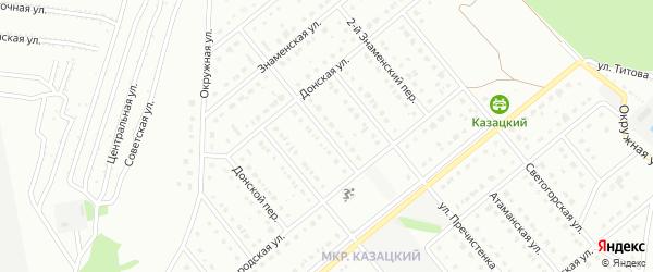 1-й Знаменский переулок на карте Старого Оскола с номерами домов