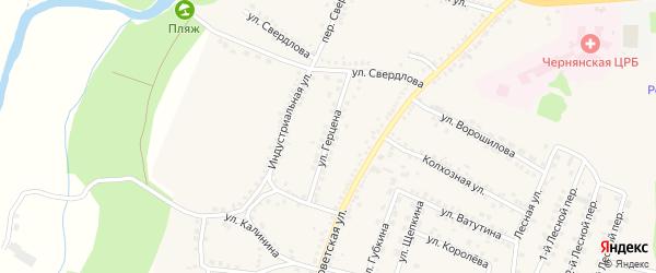 Улица Герцена на карте поселка Чернянка с номерами домов