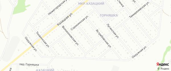 2-й Сорокинский переулок на карте Старого Оскола с номерами домов