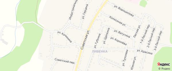 Советская улица на карте поселка Чернянка с номерами домов