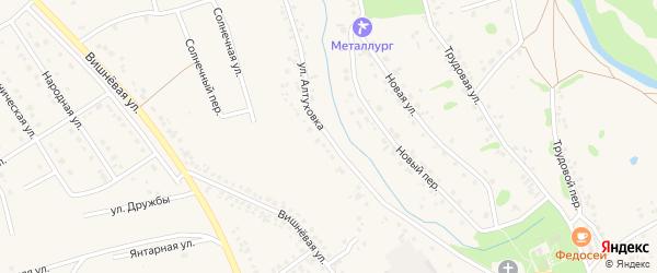 Улица Алтуховка на карте села Федосеевки с номерами домов
