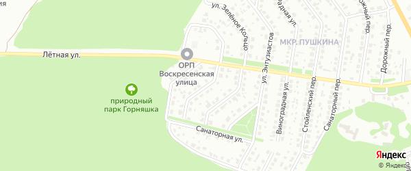 Живописная улица на карте Старого Оскола с номерами домов