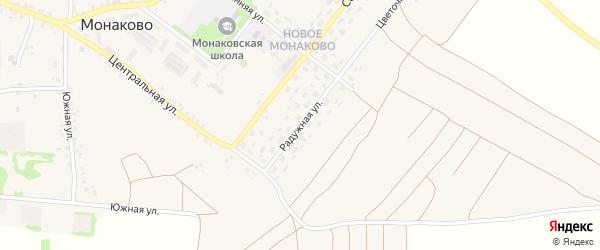 Радужная улица на карте села Монаково с номерами домов