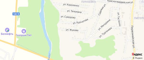 Улица Жукова на карте поселка Чернянка с номерами домов