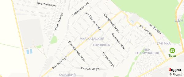 ГСК Казацкий лог-2 на карте Старого Оскола с номерами домов