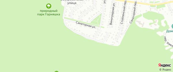 Санаторная улица на карте Старого Оскола с номерами домов