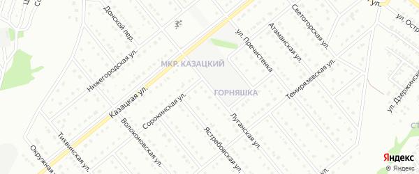 Луганская улица на карте Старого Оскола с номерами домов