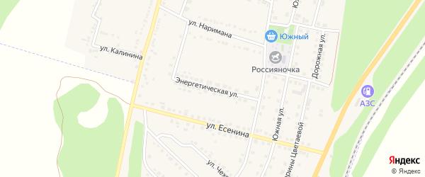 Энергетическая улица на карте поселка Чернянка с номерами домов