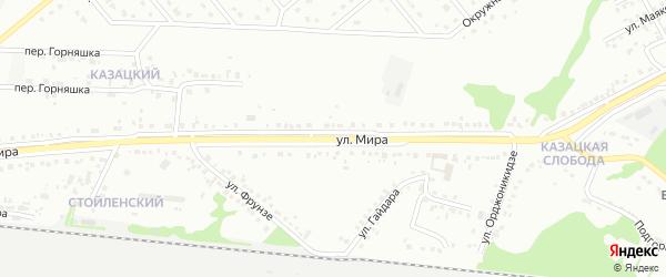 Улица Мира на карте Старого Оскола с номерами домов